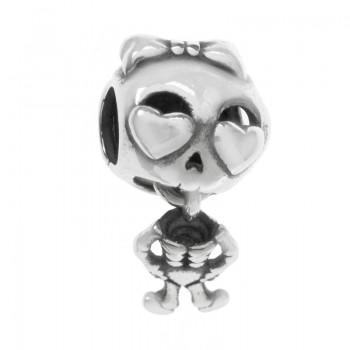 Charm esqueleto love Plata...