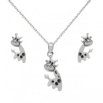Conjunto jirafa Plata de...