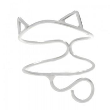 Anillo ajustable gato Plata...