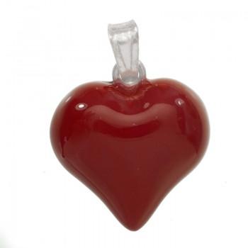 Colgante corazón rojo...