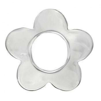Colgante flor minimalista Plata de Ley