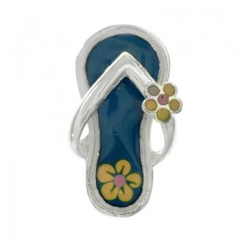 Colgante sandalia con flor...
