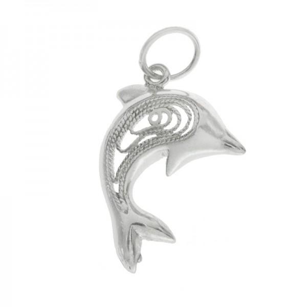 Colgante delfín electrofoma Plata de Ley