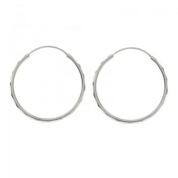 Pendientes aro plata diamantado Plata de Ley 925