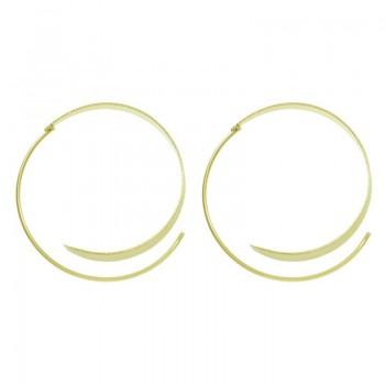 Aros asimétricos dorados...