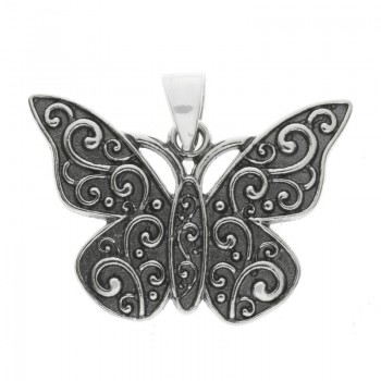 Colgante étnico mariposa Plata de Ley