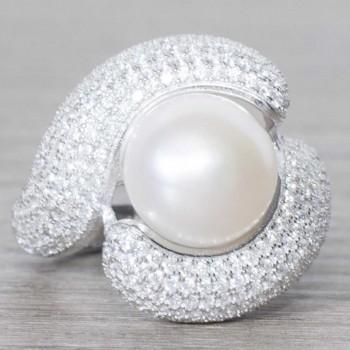 Anillo perla cultivada...