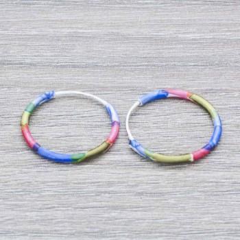 Pendientes aros multicolor...