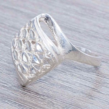 Anillo rombo diamantado...