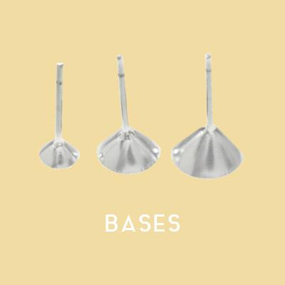 Bases para pendientes y colgantes Plata por mayor